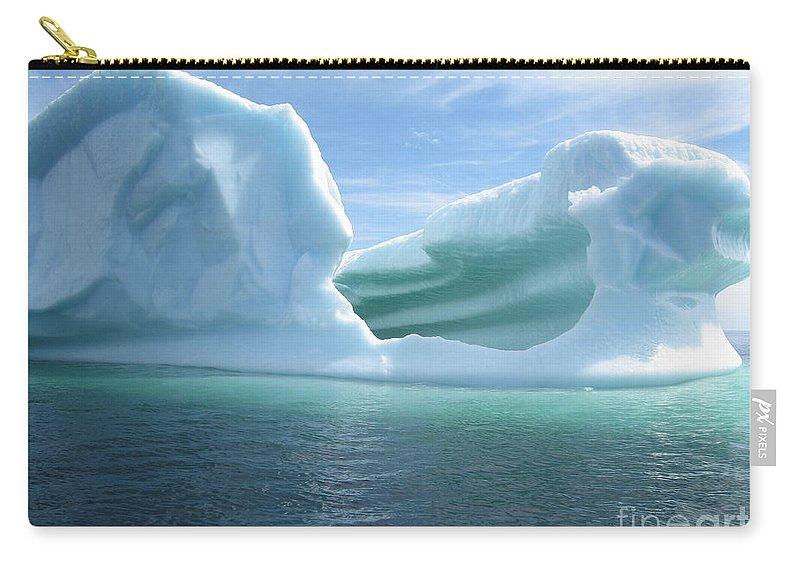 Photograph Iceberg Ocean Summer Newfoundland Carry-all Pouch featuring the photograph Iceberg by Seon-Jeong Kim