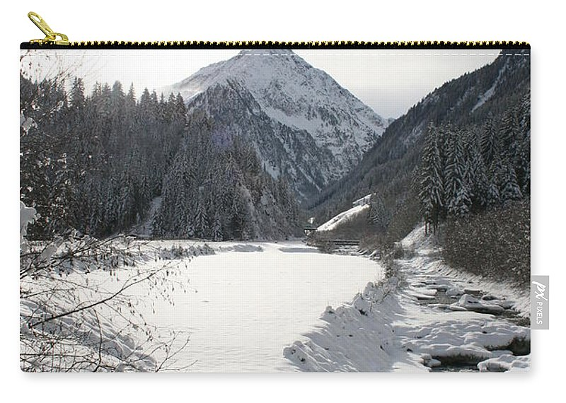 River Carry-all Pouch featuring the photograph Iced River by Christiane Schulze Art And Photography