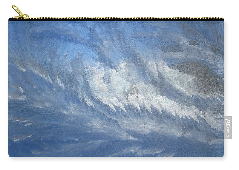 Ice Carry-all Pouch featuring the photograph Icescapes 1 by Rhonda Barrett