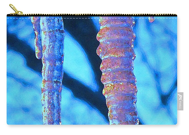 Icicle Carry-all Pouch featuring the photograph Icicles Four by Ian MacDonald