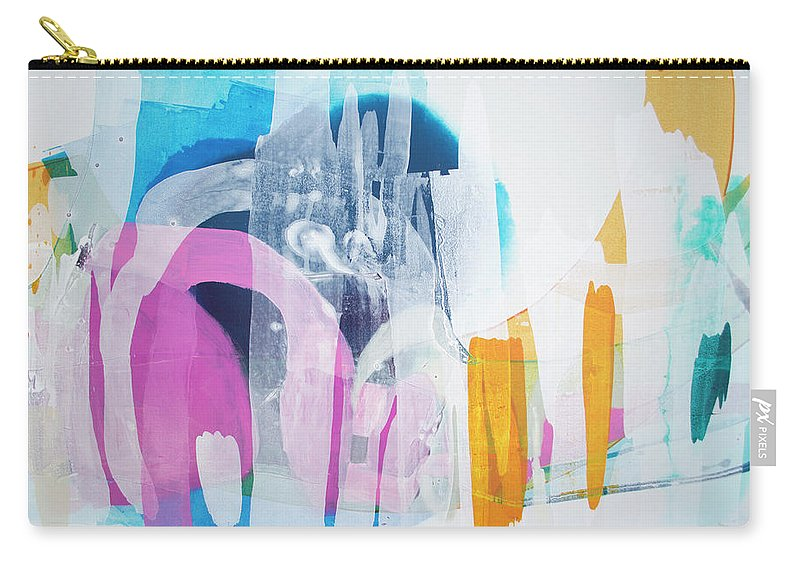 Abstract Carry-all Pouch featuring the painting Icing On The Cake by Claire Desjardins