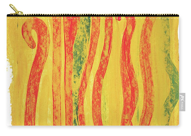 Contemporary Carry-all Pouch featuring the painting Icon by Bjorn Sjogren