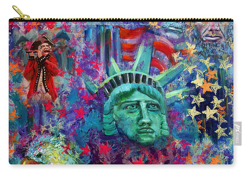 Liberty Carry-all Pouch featuring the painting Icons Of Freedom by Peter Bonk