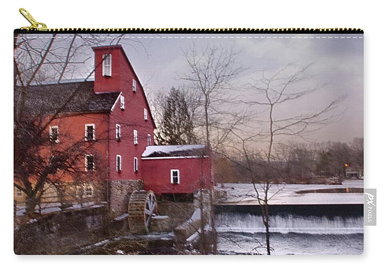 Waterfall Carry-all Pouch featuring the photograph Icy Falls by Ryan Crane