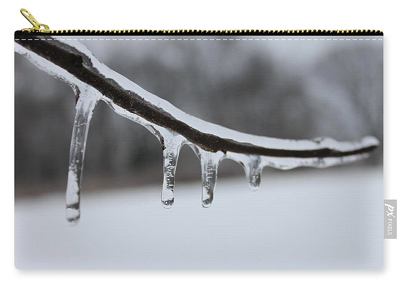 Tree Carry-all Pouch featuring the photograph Icy Finger by Lauri Novak