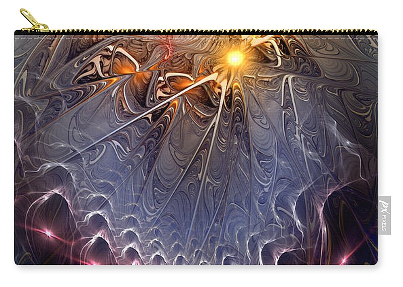 Abstract Carry-all Pouch featuring the digital art Ideological Subterfuge by Casey Kotas