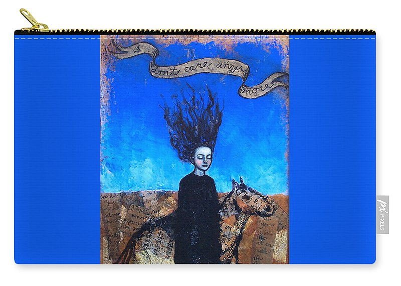 Carry-all Pouch featuring the painting Idontcareanymore by Pauline Lim