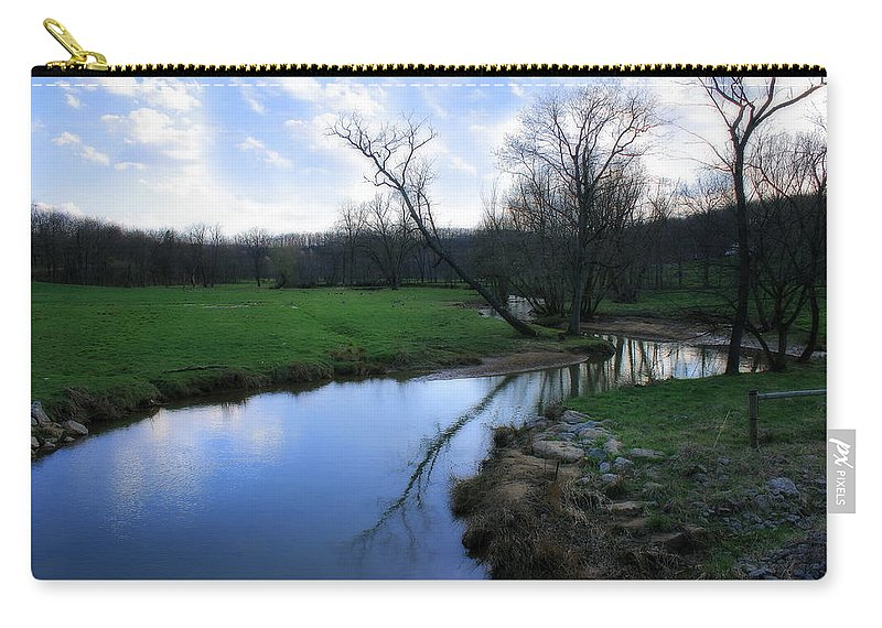 Landscape Carry-all Pouch featuring the photograph Idyllic Creek by Angela Rath