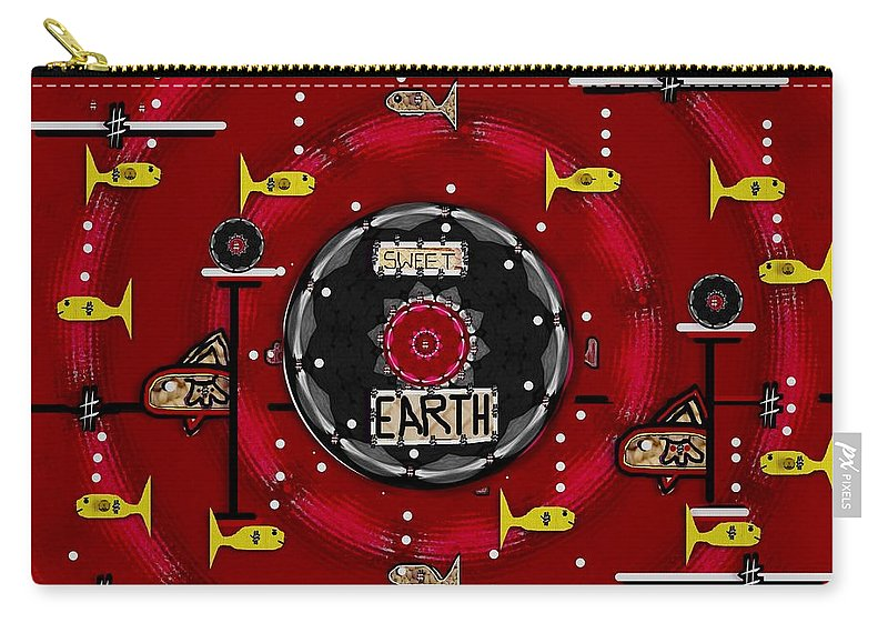 Fishes Carry-all Pouch featuring the mixed media If Fishes Belives In Peace by Pepita Selles