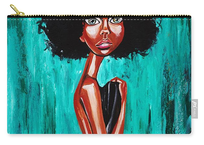 Afro Carry-all Pouch featuring the photograph If From Past Sins Ive Been Washed Clean-why Do I Feel So Dirty by Artist RiA