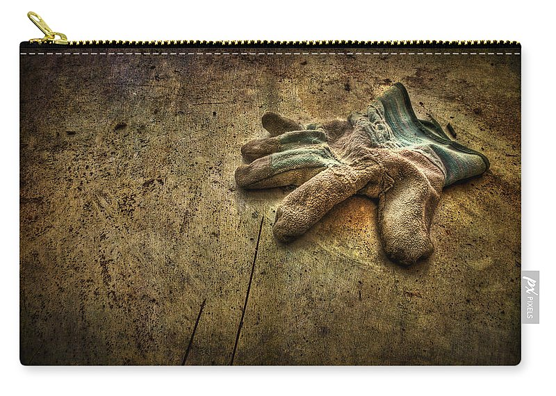 Glove Carry-all Pouch featuring the photograph If The Glove Doesn't Fit........ by Evelina Kremsdorf
