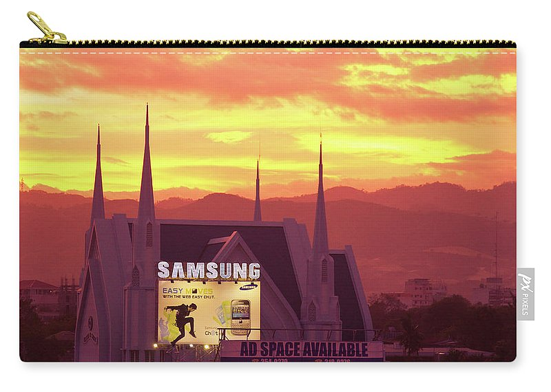 Insogna Carry-all Pouch featuring the photograph Iglesia Ni Cristo Sunset Cebu City Philippines by James BO Insogna