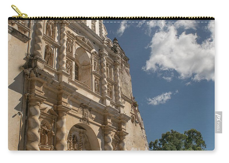 Iglesia San Francisco Carry-all Pouch featuring the photograph Iglesia San Francisco - Antigua Guatemala Xiii by Totto Ponce