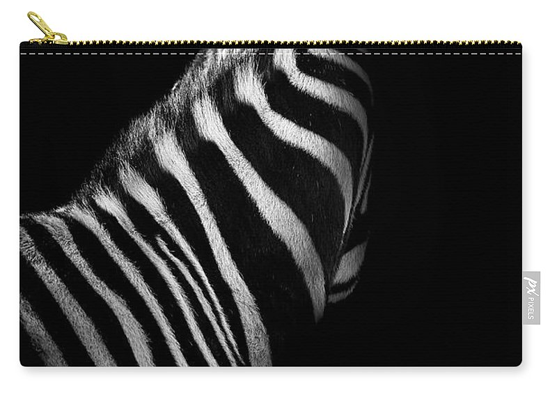 Zebra Carry-all Pouch featuring the photograph Ignorance by Paul Neville