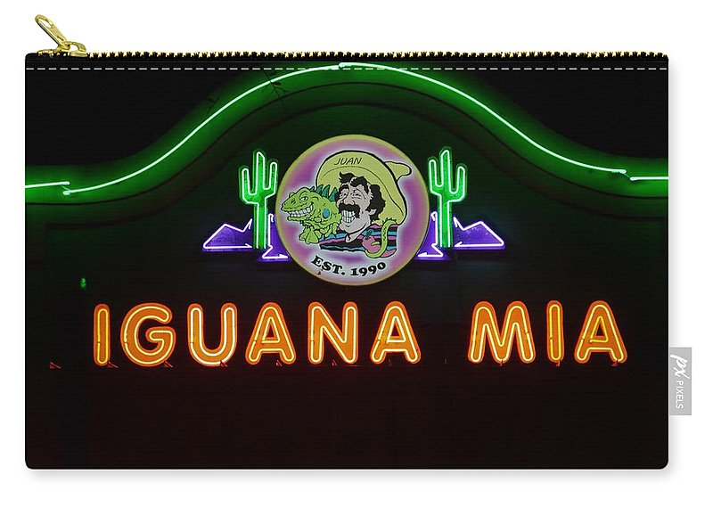Iguana Mia Carry-all Pouch featuring the photograph Iguana Mia by Don Columbus