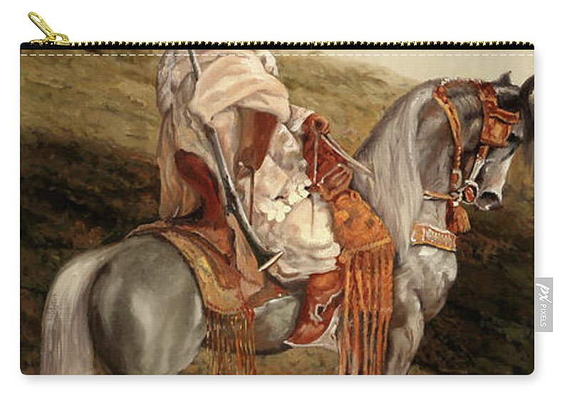 Knight Carry-all Pouch featuring the painting Il Cavaliere by Guido Borelli