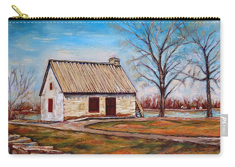 Ile Perrot Carry-all Pouch featuring the painting Ile Perrot House by Carole Spandau