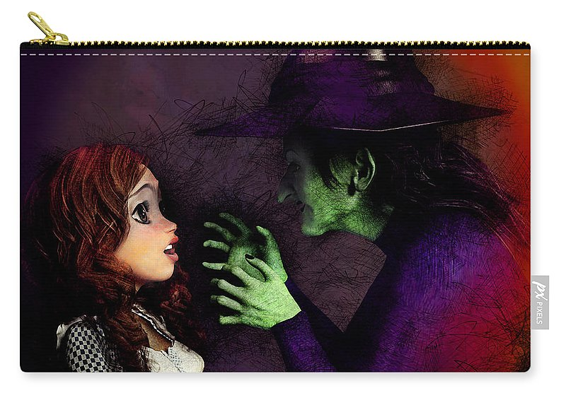 Dorothy Carry-all Pouch featuring the painting I'll Get You My Pretty by Methune Hively