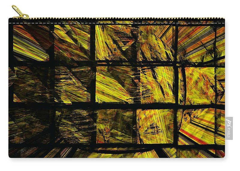 Abstract Digital Painting Carry-all Pouch featuring the digital art Illiusion 01 by David Lane