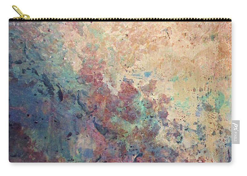 Mica Carry-all Pouch featuring the painting Illuminated Valley I Diptych by Shadia Derbyshire