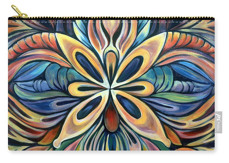 Mandala Carry-all Pouch featuring the painting Illumination by Shadia Derbyshire