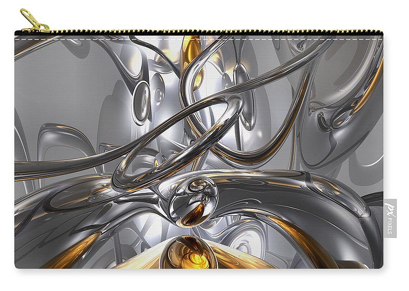 3d Carry-all Pouch featuring the digital art Illusions Abstract by Alexander Butler