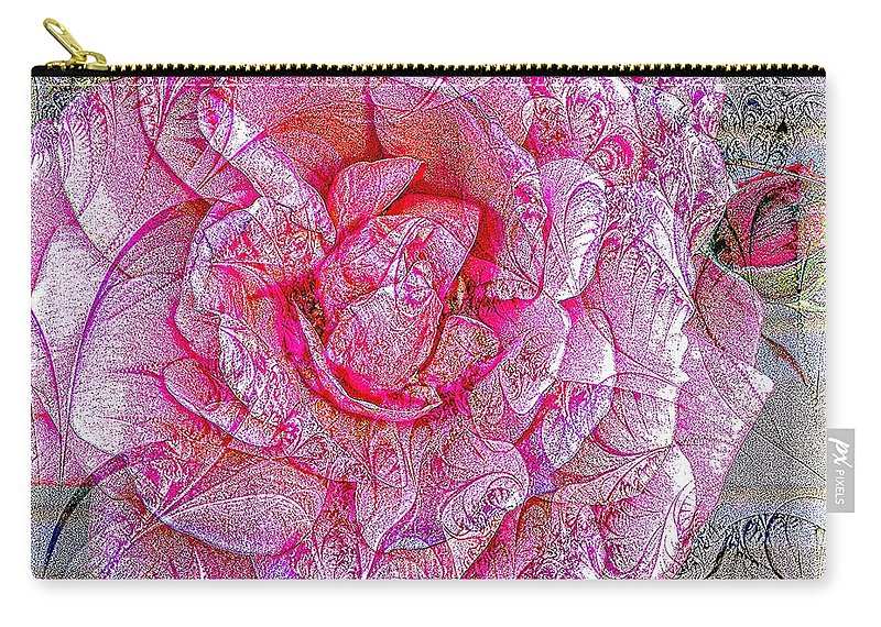 Barbara Griffin Carry-all Pouch featuring the photograph Illustration Rose Pink by Barbara Griffin