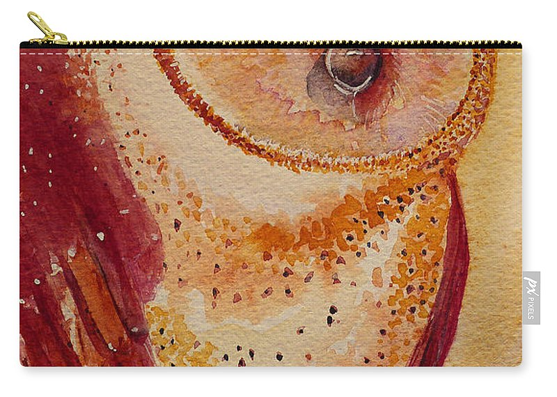 Watercolour Carry-all Pouch featuring the painting I'm Looking At You by Katie Lloyd