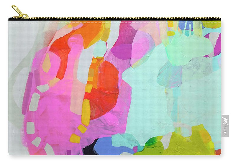 Abstract Carry-all Pouch featuring the painting I'm So Glad by Claire Desjardins