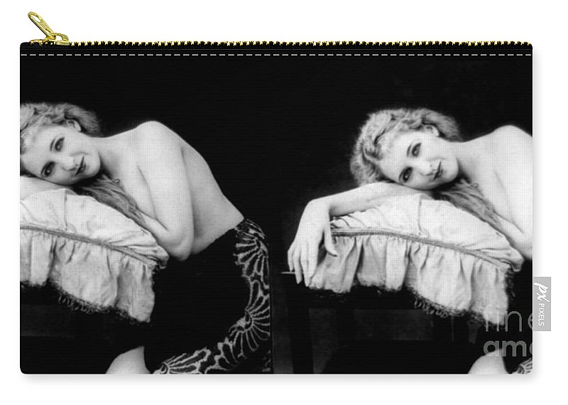 Erotica Carry-all Pouch featuring the photograph Im Too Tired, Nude Model, 1928 by Science Source