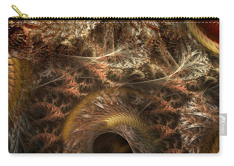 Abstract Carry-all Pouch featuring the digital art Image Of The Organism by Casey Kotas