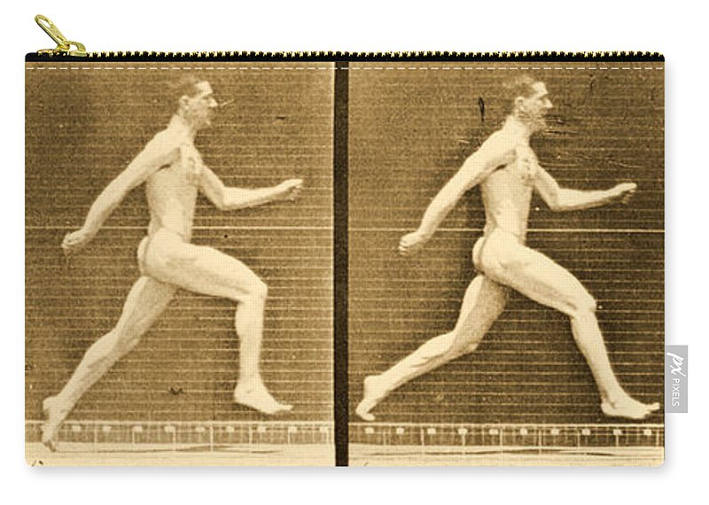 Muybridge Carry-all Pouch featuring the photograph Image Sequence From Animal Locomotion Series by Eadweard Muybridge