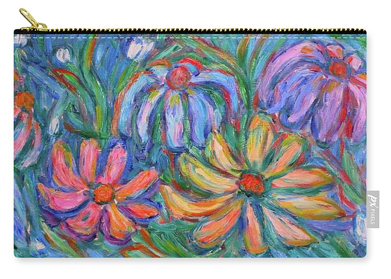 Flowers Carry-all Pouch featuring the painting Imaginary Flowers by Kendall Kessler