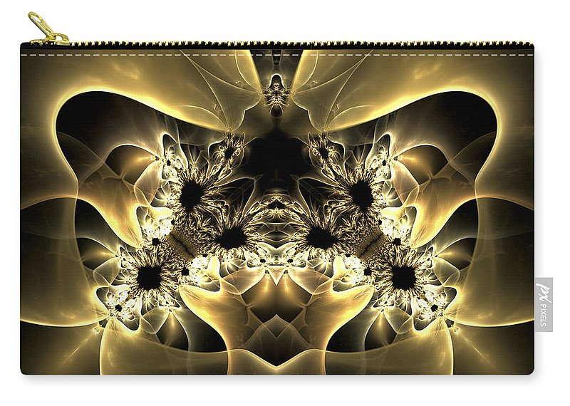 Fractl Carry-all Pouch featuring the digital art Imaginary Heart by Amorina Ashton