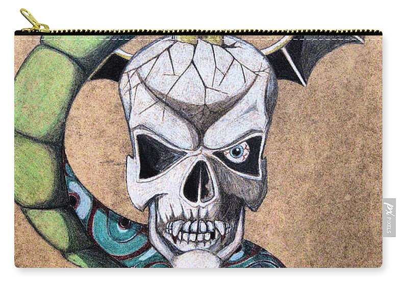 Cobra Carry-all Pouch featuring the drawing imaginative Simbol by Alban Dizdari