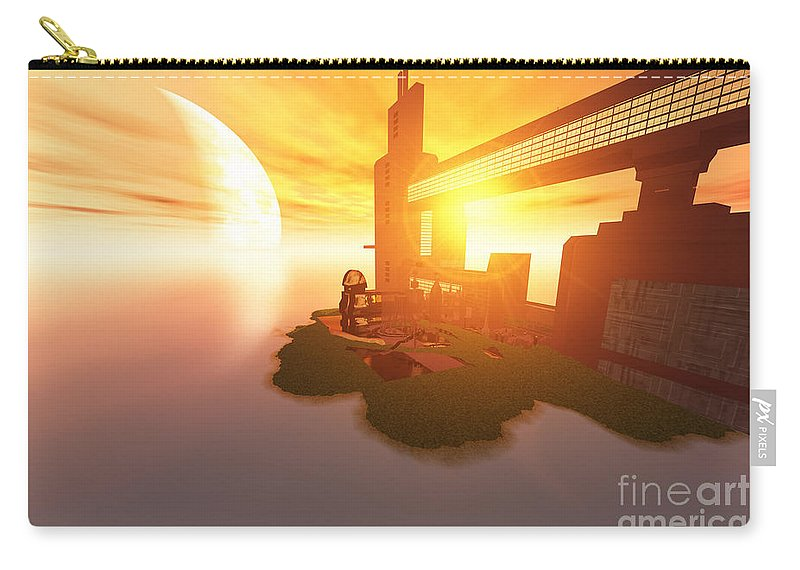 Space Art Carry-all Pouch featuring the painting Imagine by Corey Ford