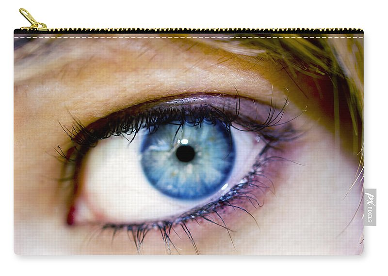 Eye Carry-all Pouch featuring the photograph Imagine by Kelly Jade King