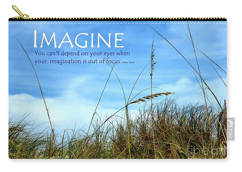Imagine Carry-all Pouch featuring the photograph Imagine by Lisa Renee Ludlum