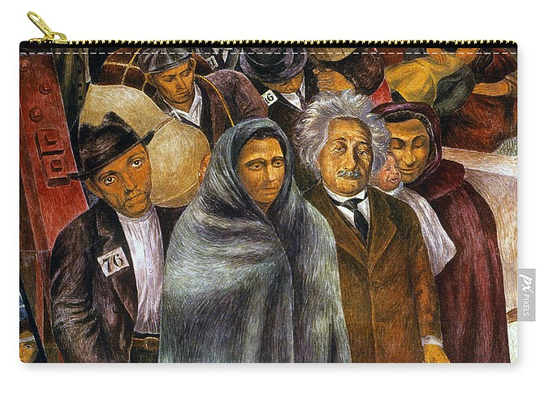 1937 Carry-all Pouch featuring the photograph Immigrants, Nyc, 1937-38 by Granger