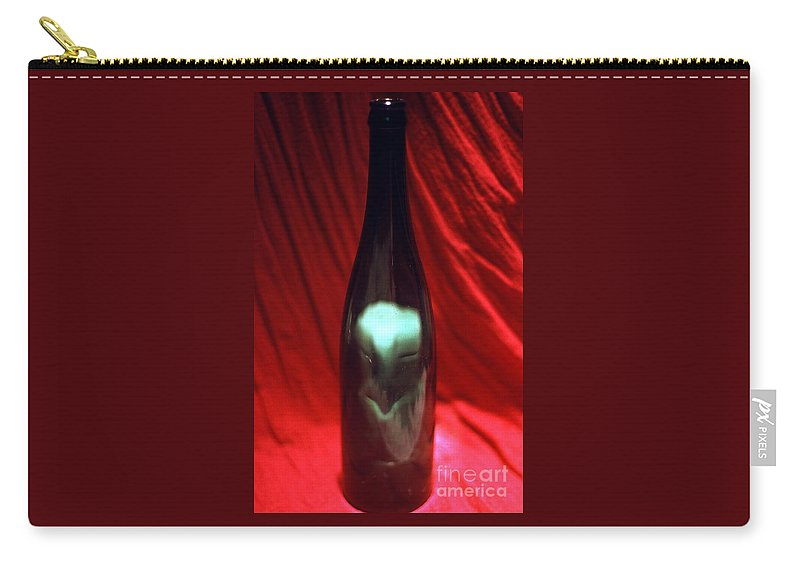 Imp Bottle Red Spooky Carry-all Pouch featuring the photograph Imp In A Bottle by Bob Bennett