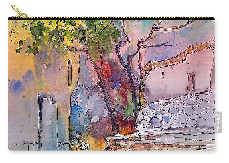 Trevelez Painting Carry-all Pouch featuring the painting Impression De Trevelez Sierra Nevada 02 by Miki De Goodaboom