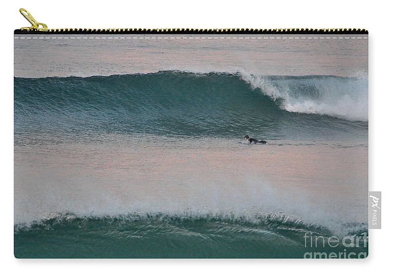 Gold Coast Carry-all Pouch featuring the photograph Impressionist Surfing by Csilla Florida