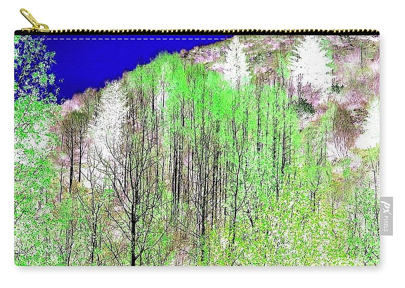 Impressions Carry-all Pouch featuring the digital art Impressions 12 by Will Borden