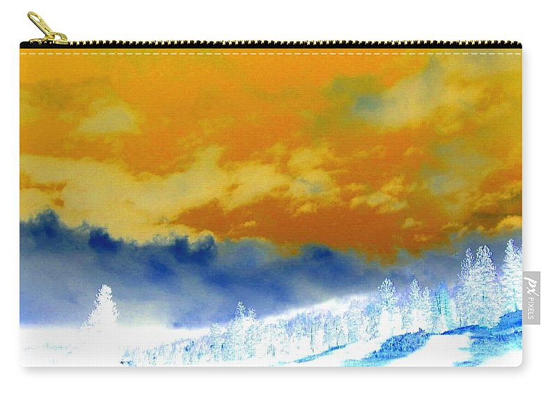 Impressions Carry-all Pouch featuring the digital art Impressions 2 by Will Borden