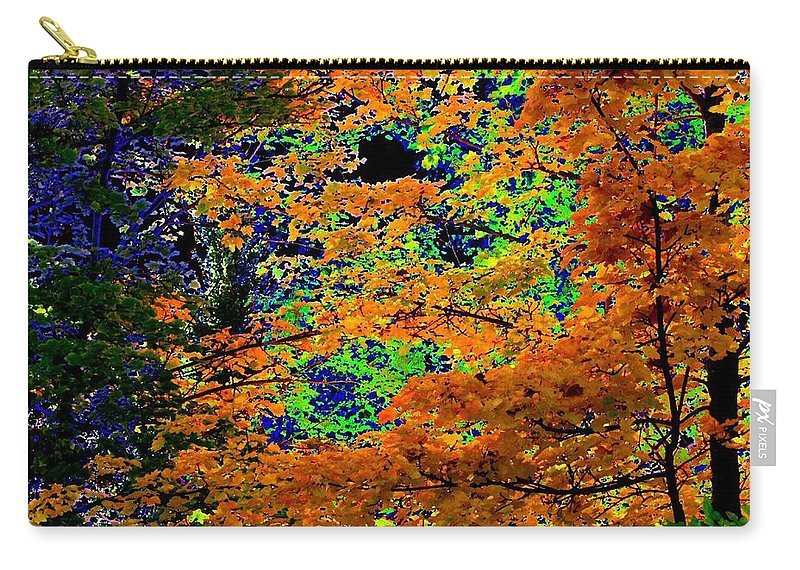 Impressions Carry-all Pouch featuring the digital art Impressions 3 by Will Borden