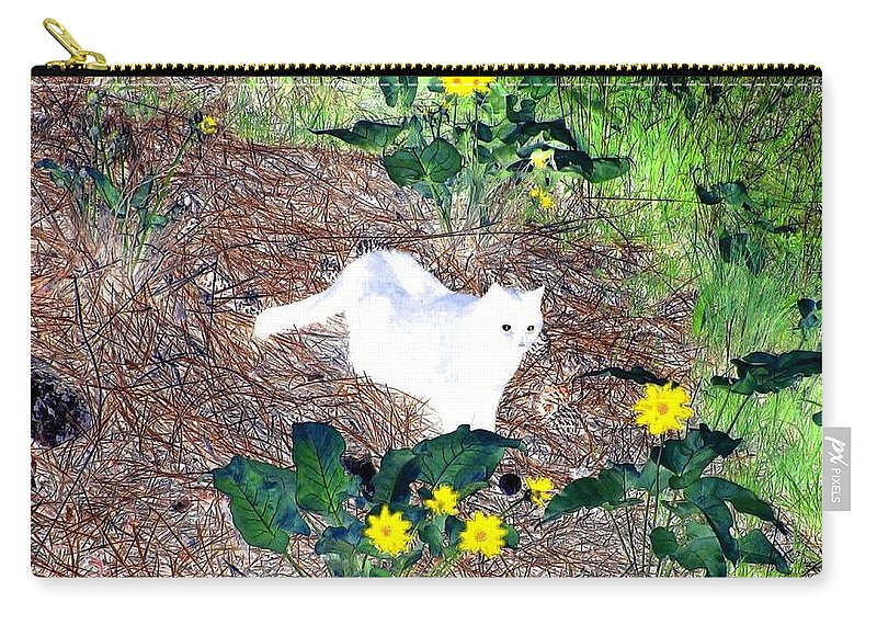 Impressions Carry-all Pouch featuring the digital art Impressions 4 by Will Borden