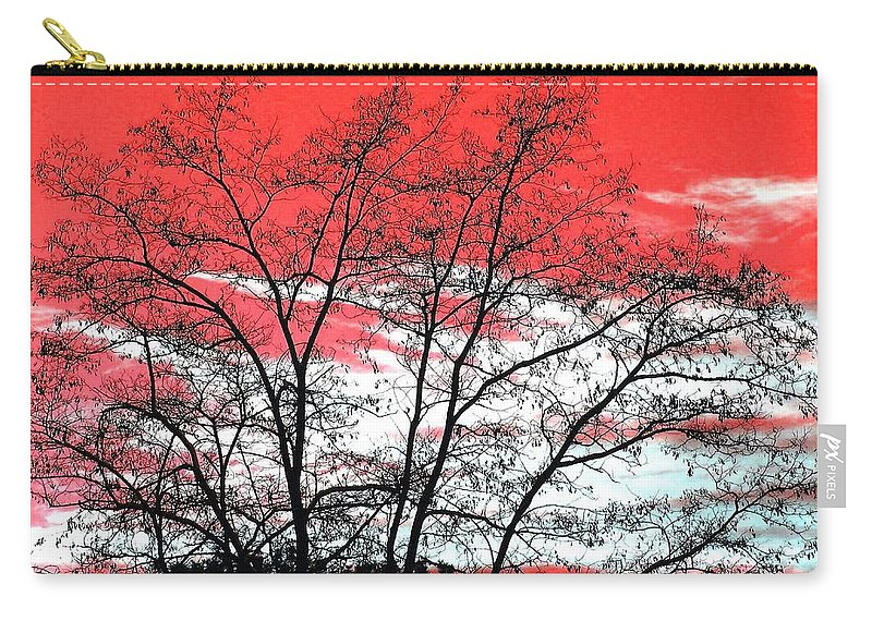 Impressions Carry-all Pouch featuring the digital art Impressions 6 by Will Borden