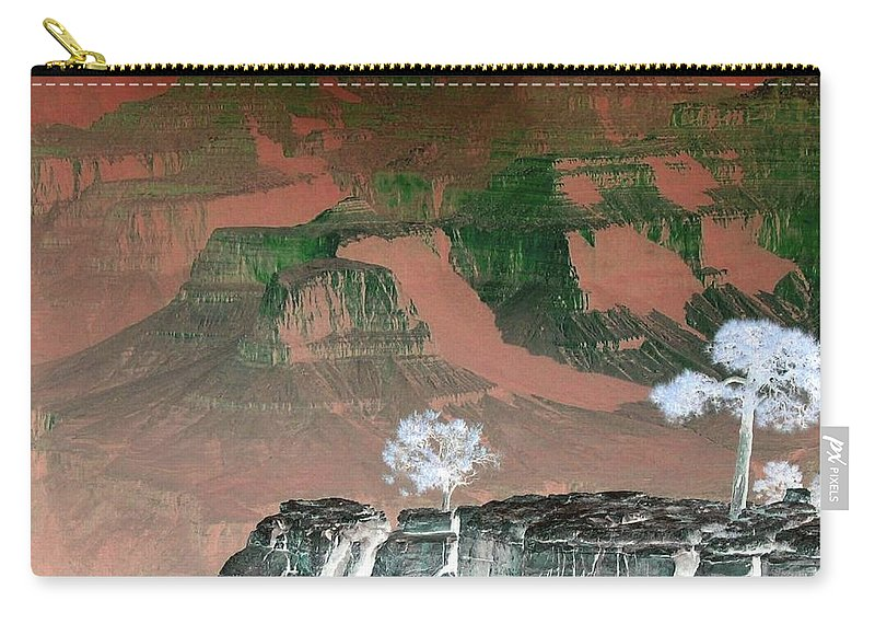 Impressions Carry-all Pouch featuring the digital art Impressions 8 by Will Borden