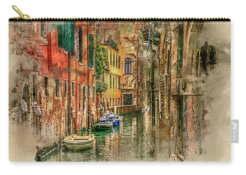 Venice Carry-all Pouch featuring the digital art Impressions Of Venice by Brian Tarr