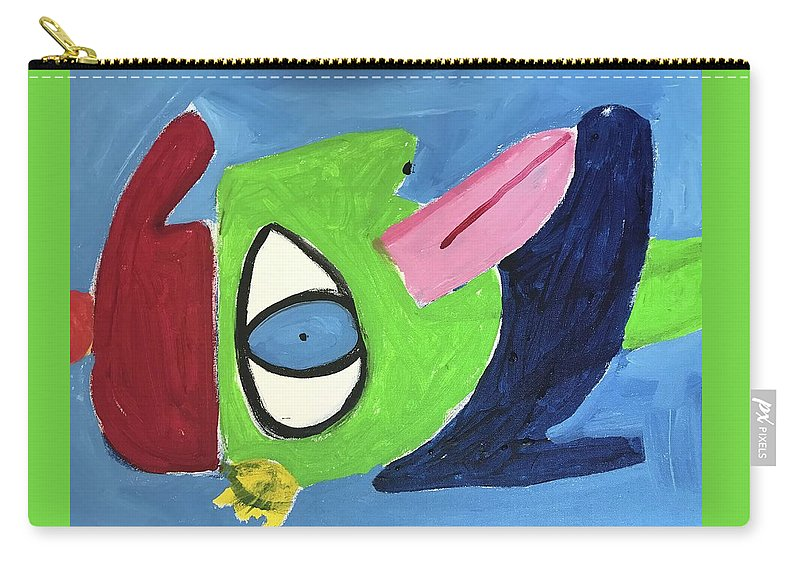 Boy Carry-all Pouch featuring the painting Improvisation by Margaret Jemison